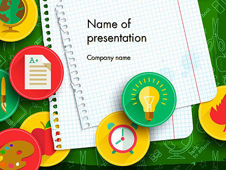 Back To School Background PowerPoint Template, 13588, Education & Training — PoweredTemplate.com