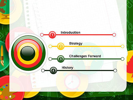 Back To School Background PowerPoint Template, Slide 3, 13588, Education & Training — PoweredTemplate.com