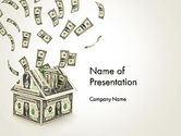Financial/Accounting: Investments in Real Estate PowerPoint Template #13591