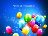 Holiday/Special Occasion: Colorful Birthday Party Balloons PowerPoint Template #13592