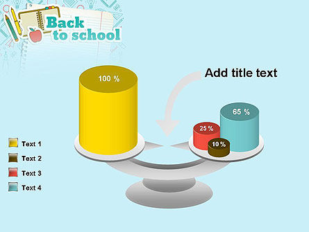 Back to School of Notebook Sheet PowerPoint Template Slide 10
