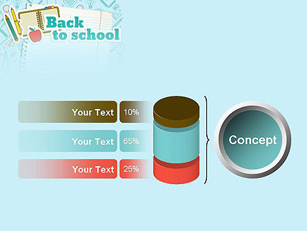 Back to School of Notebook Sheet PowerPoint Template Slide 11