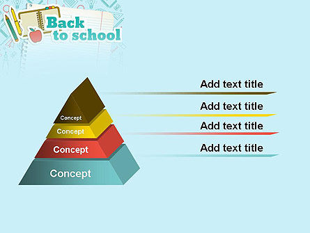Back to School of Notebook Sheet PowerPoint Template Slide 12