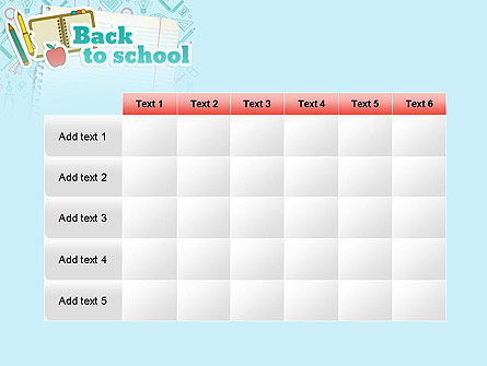 Back to School of Notebook Sheet PowerPoint Template Slide 15