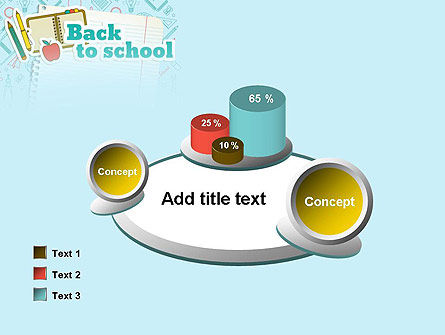 Back to School of Notebook Sheet PowerPoint Template Slide 16