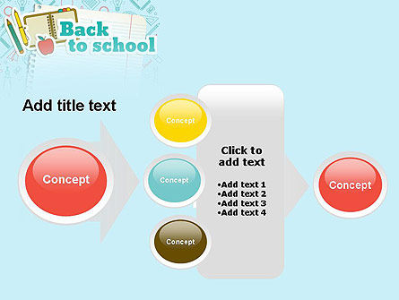 Back to School of Notebook Sheet PowerPoint Template Slide 17
