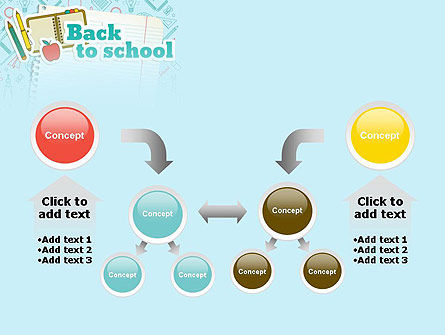 Back to School of Notebook Sheet PowerPoint Template Slide 19