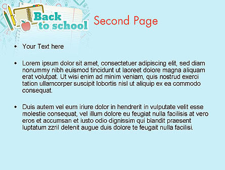 Back to School of Notebook Sheet PowerPoint Template Slide 2