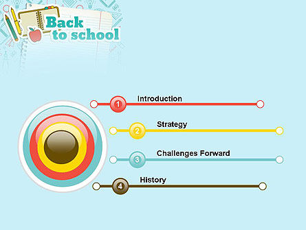 Back to School of Notebook Sheet PowerPoint Template Slide 3