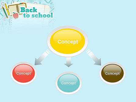 Back to School of Notebook Sheet PowerPoint Template Slide 4