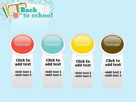 Back to School of Notebook Sheet PowerPoint Template Slide 5