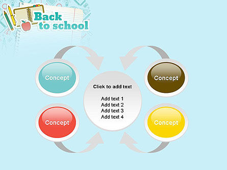 Back to School of Notebook Sheet PowerPoint Template Slide 6