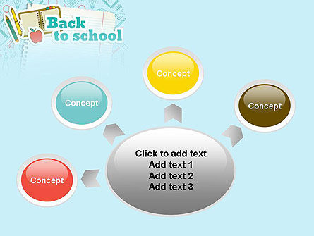 Back to School of Notebook Sheet PowerPoint Template Slide 7