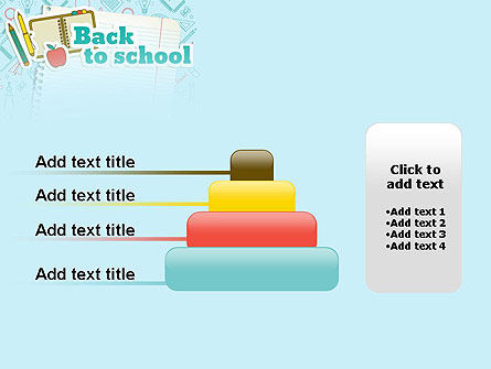 Back to School of Notebook Sheet PowerPoint Template Slide 8