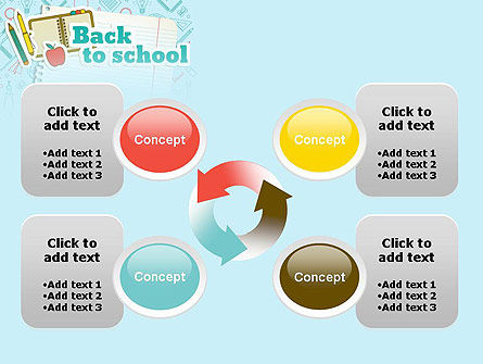 Back to School of Notebook Sheet PowerPoint Template Slide 9