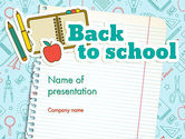 Back to School of Notebook Sheet PowerPoint Template#1