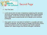 Back to School of Notebook Sheet PowerPoint Template#2