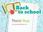 Back to School of Notebook Sheet PowerPoint Template#20