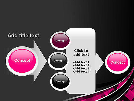 Transparent Wave with Pink Cubes PowerPoint Template Slide 17