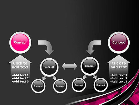 Transparent Wave with Pink Cubes PowerPoint Template Slide 19