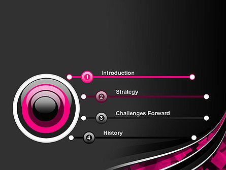 Transparent Wave with Pink Cubes PowerPoint Template Slide 3