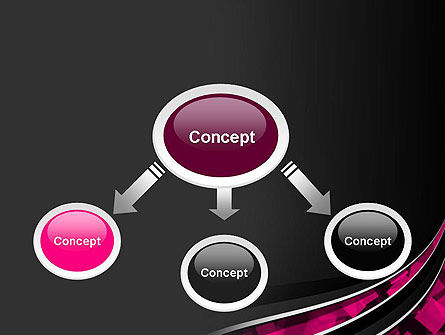 Transparent Wave with Pink Cubes PowerPoint Template Slide 4