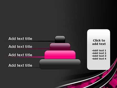 Transparent Wave with Pink Cubes PowerPoint Template Slide 8