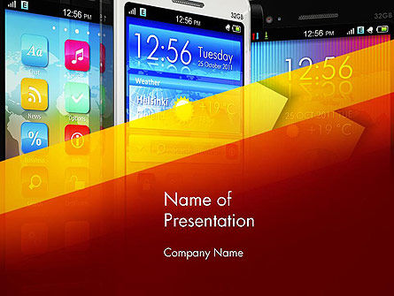 Technology and Science: Smartphone Interfaces PowerPoint Template #13598