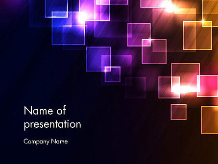 Squares and Spectrum PowerPoint Template