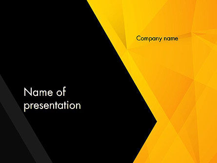 Business: Black and Yellow Shapes PowerPoint Template #13600