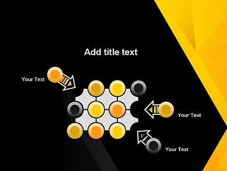 Black and Yellow Shapes PowerPoint Template Slide 10