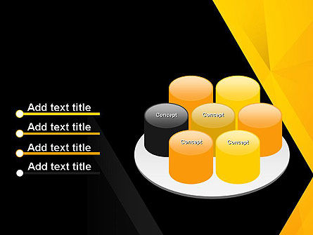 Black and Yellow Shapes PowerPoint Template Slide 12