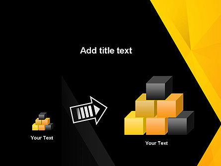 Black and Yellow Shapes PowerPoint Template Slide 13
