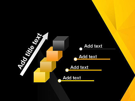 Black and Yellow Shapes PowerPoint Template Slide 14
