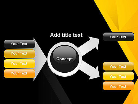 Black and Yellow Shapes PowerPoint Template Slide 15