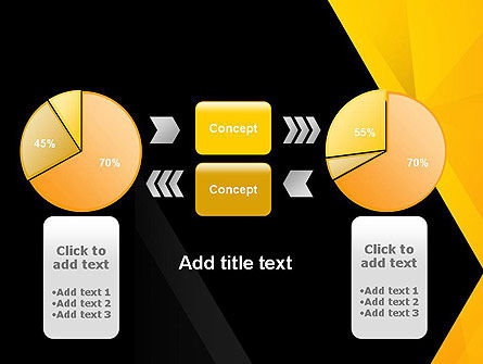 Black and Yellow Shapes PowerPoint Template Slide 16