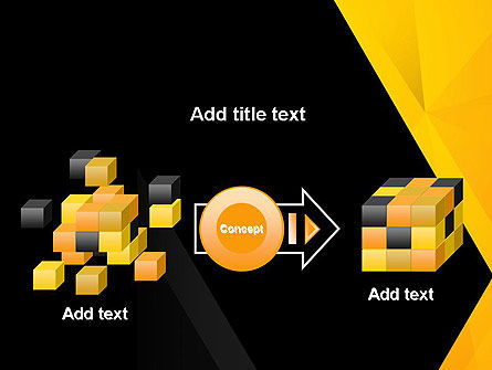 Black and Yellow Shapes PowerPoint Template Slide 17
