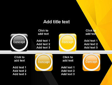 Black and Yellow Shapes PowerPoint Template Slide 18