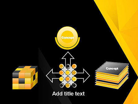 Black and Yellow Shapes PowerPoint Template Slide 19