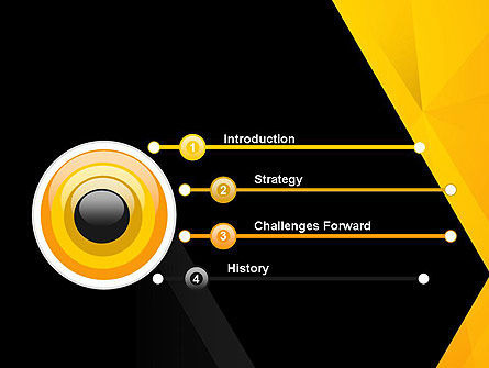 Black and Yellow Shapes PowerPoint Template Slide 3