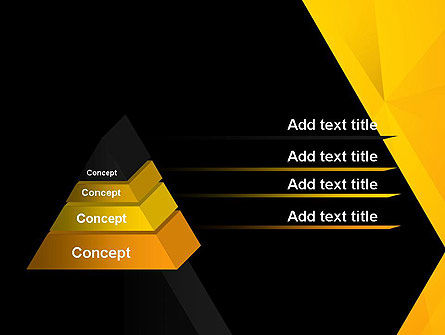 Black and Yellow Shapes PowerPoint Template, Slide 4, 13600, Business — PoweredTemplate.com