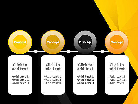Black and Yellow Shapes PowerPoint Template Slide 5