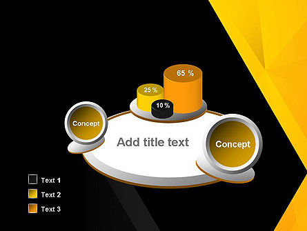 Black and Yellow Shapes PowerPoint Template Slide 6