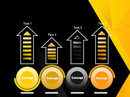 Black and Yellow Shapes PowerPoint Template Slide 7