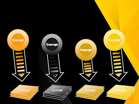 Black and Yellow Shapes PowerPoint Template Slide 8