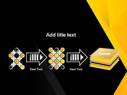Black and Yellow Shapes PowerPoint Template Slide 9
