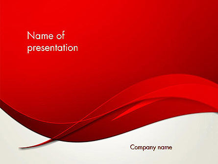 Red Flame Wave Abstract PowerPoint Template