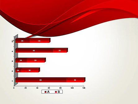 Red Flame Wave Abstract PowerPoint Template Slide 11