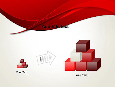 Red Flame Wave Abstract PowerPoint Template Slide 13