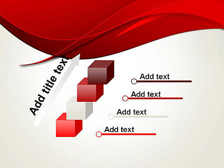 Red Flame Wave Abstract PowerPoint Template Slide 14